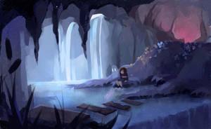 Silent waterfall