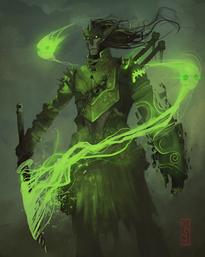 Green Mage green warrior mage by ...