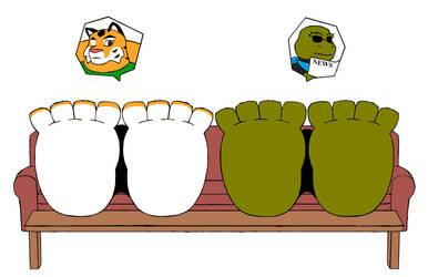 Request: Rest the Swollen Feet by ElementalFurries