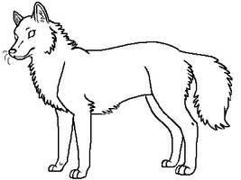 Wolf Lineart by DreyaCira