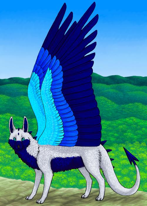 Wolf Dragon Progress by DreyaCira