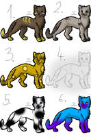 Cat adoptables - OPEN by Bloodsiri