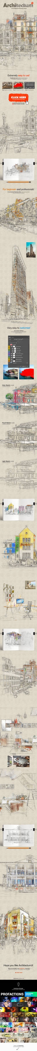 Architectum 3 - Archi Sketcher Photoshop Action