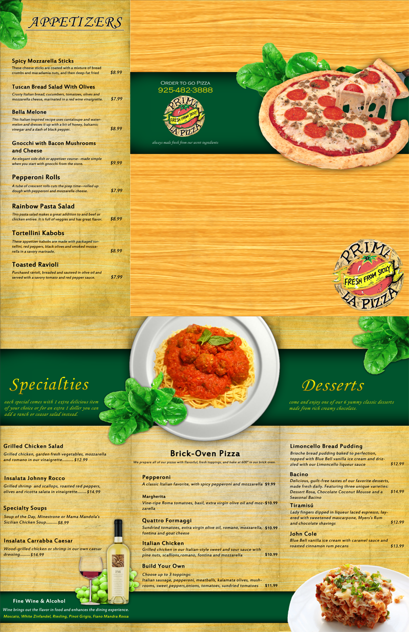 Italian restaurant menu by brittaindesigns on deviantart for Artistic cuisine menu