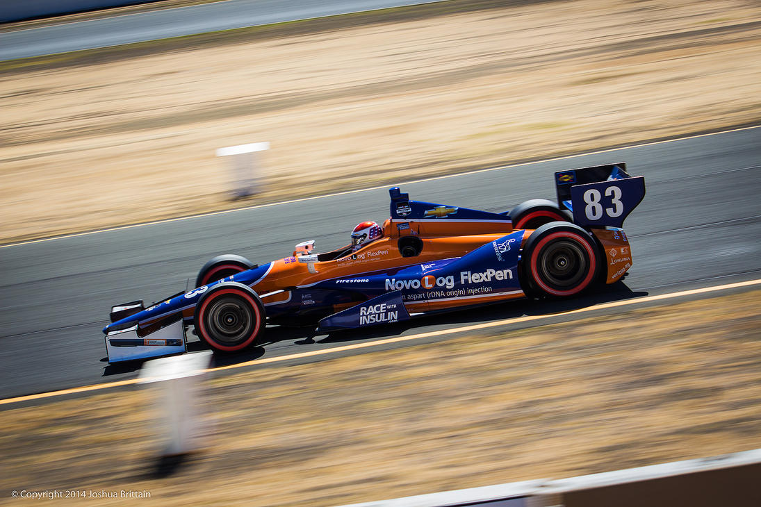 #83 Indy Race at Sonoma Raceway by BrittainDesigns