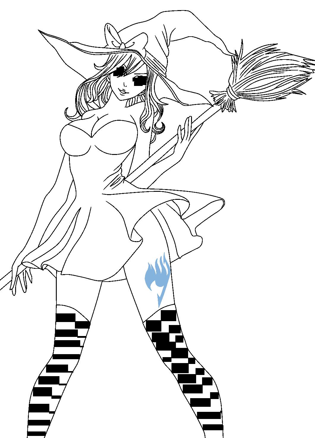 Juvia Lineart : Juvia loxar lineart by cursedicedragon on deviantart