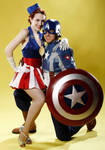 Cap and USO Girl