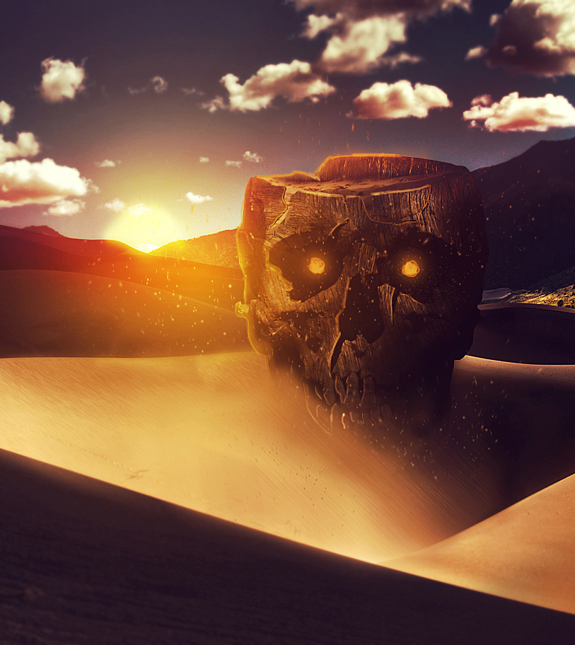 Skull on the sand by Nation17