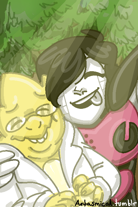 Mettaton And Alphys by Patcha105