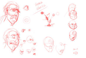 Character Expressions 01 by basakward