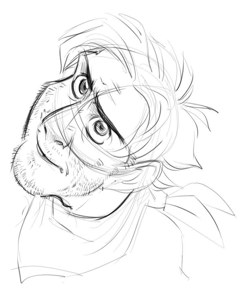 Guy doodle by basakward