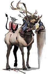 Elk-centaur by basakward
