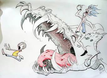 Run, Morty!  RUN! by basakward