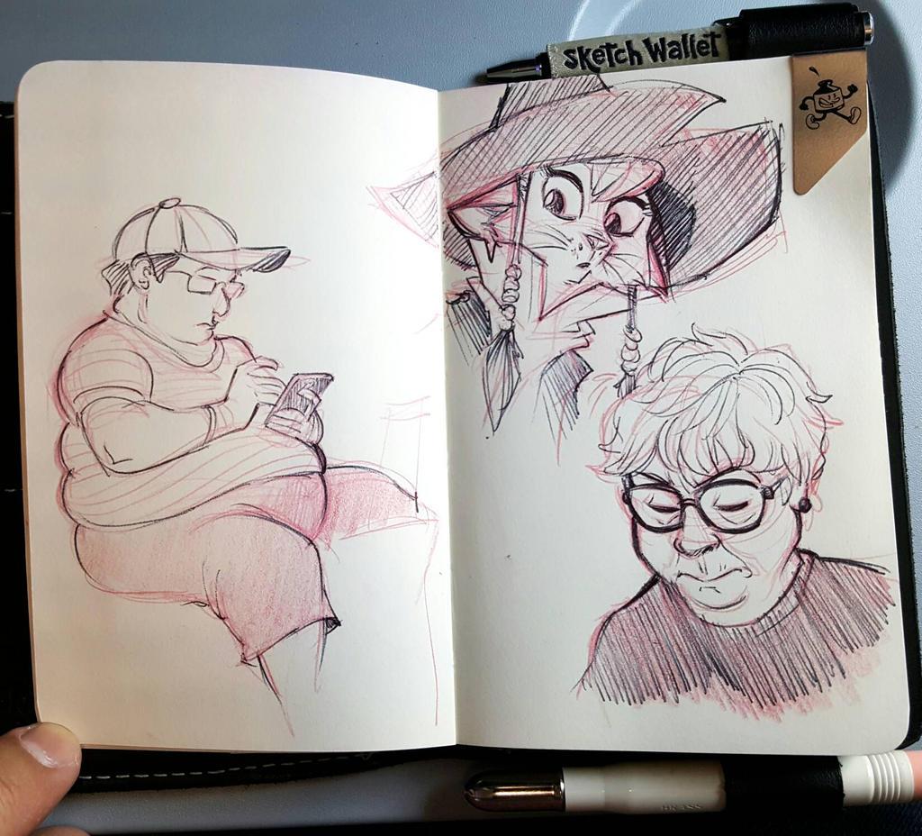 Airport Sketching  by basakward