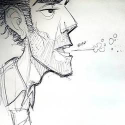 Work Doodle by basakward
