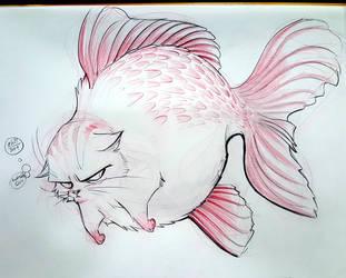 Goldfish-Cat by basakward