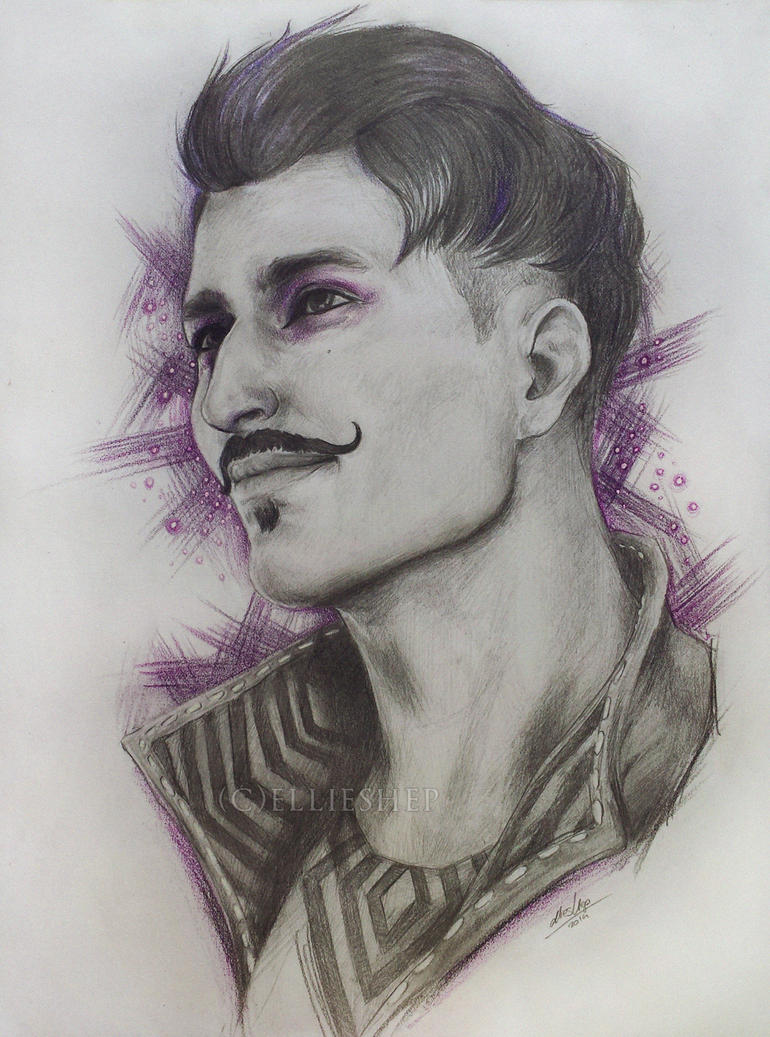 Dorian Pavus pencil drawing by ellieshep