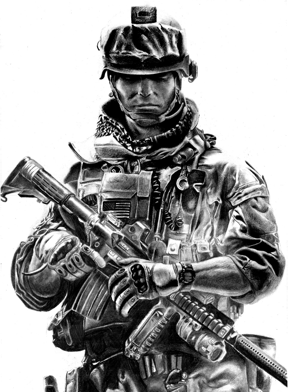 Army Navy Game What Channel >> Battlefeild 3 Pencil Drawing by Keshavsart on DeviantArt
