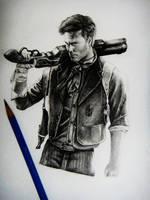 Bioshock infinite Pencil Drawing by Keshavsart