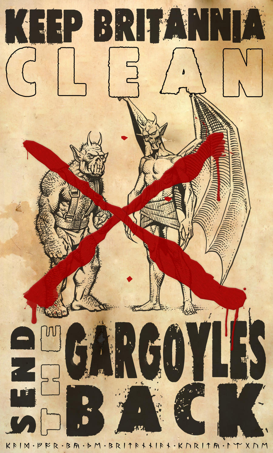 Keep Britannia Clean - Send the Gargoyles Back! by Vlarg