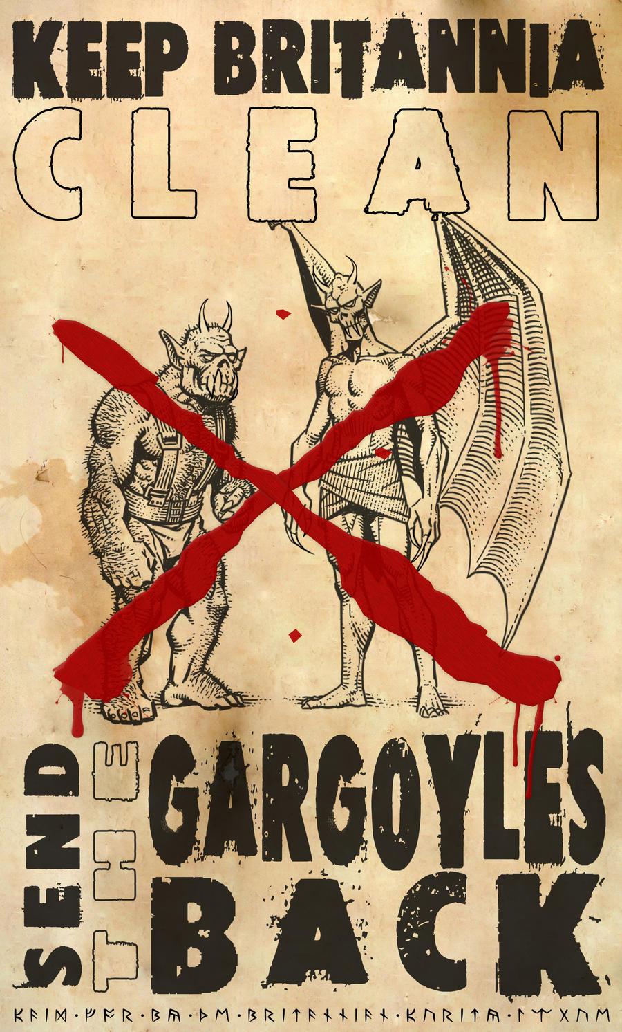 Keep Britannia Clean - Send the Gargoyles Back! by Vlarg