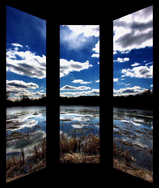 Cloudscape II  -  Triptych by Vlarg