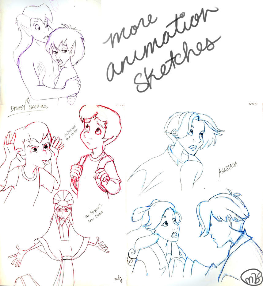 More Animation Sketches by marbri