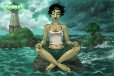 Jade's meditation by Sleeepy