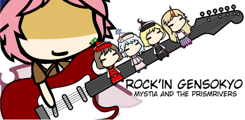 Mystia and The Prismrivers: Rockin' In Gensokyo DL by Wilhiemthe2nd