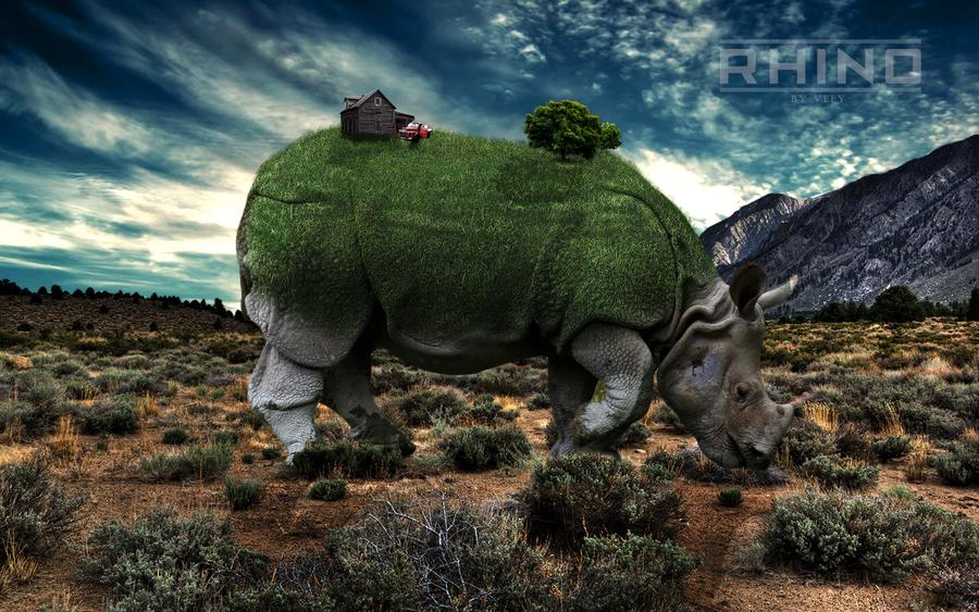 Rhino Wallpaper by VeeY007 on DeviantArt: veey007.deviantart.com/art/Rhino-Wallpaper-309170879