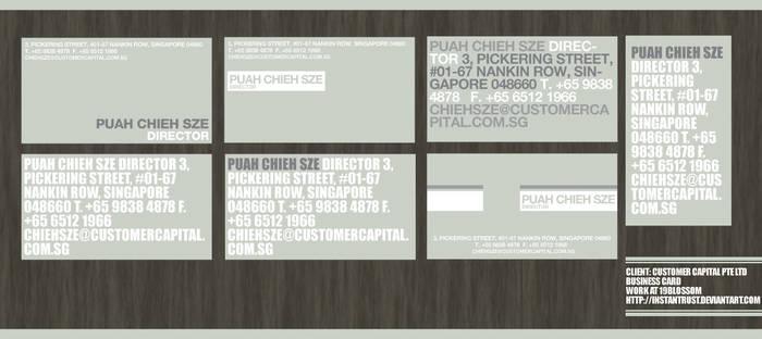 Customer Capital Business Card