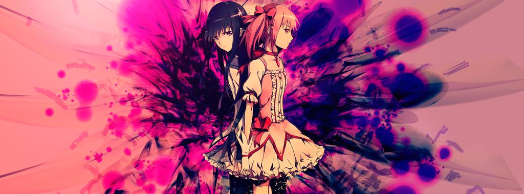Madoka and Homura by PacorrOz