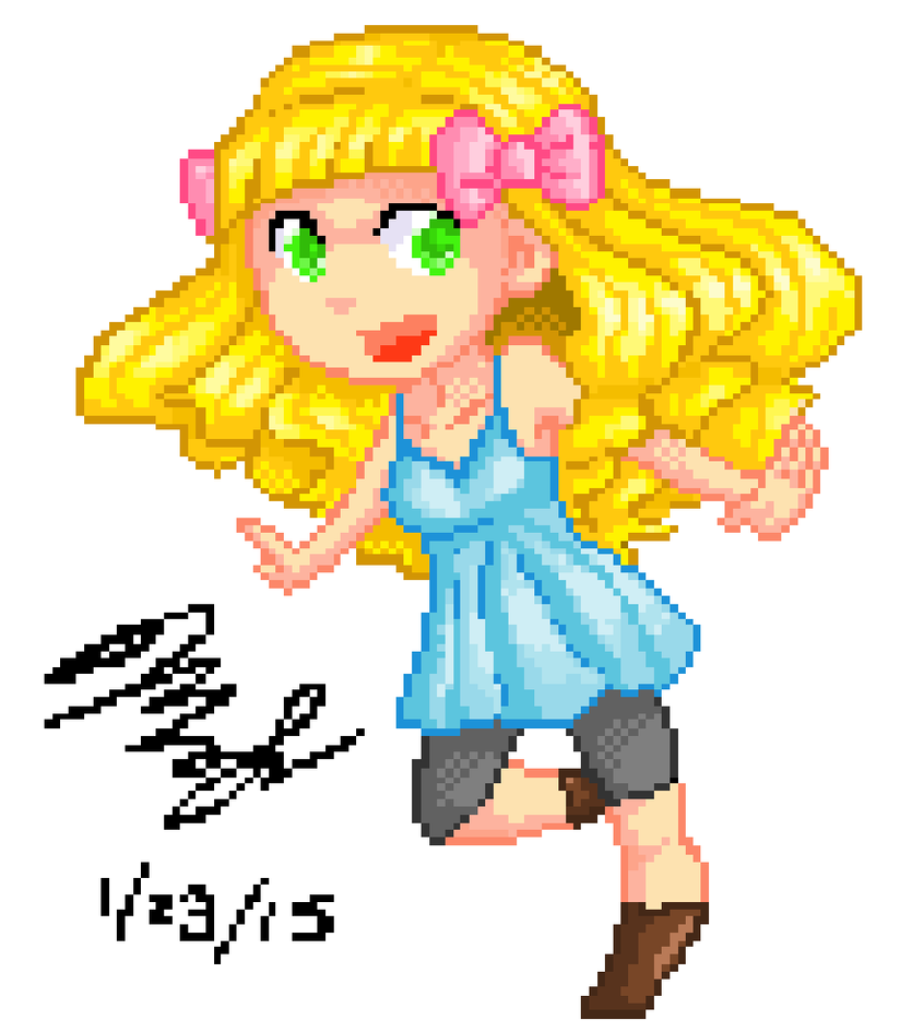 Pixel Girl by chaoskitty1257