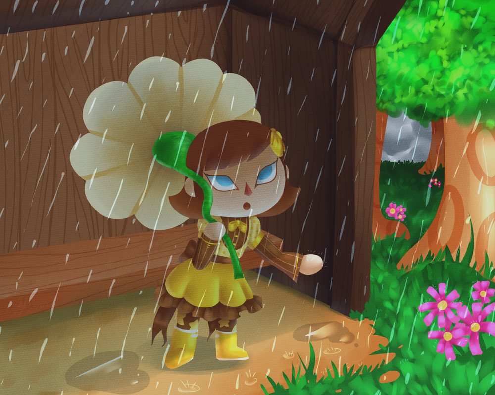 Spring Rain by chaoskitty1257