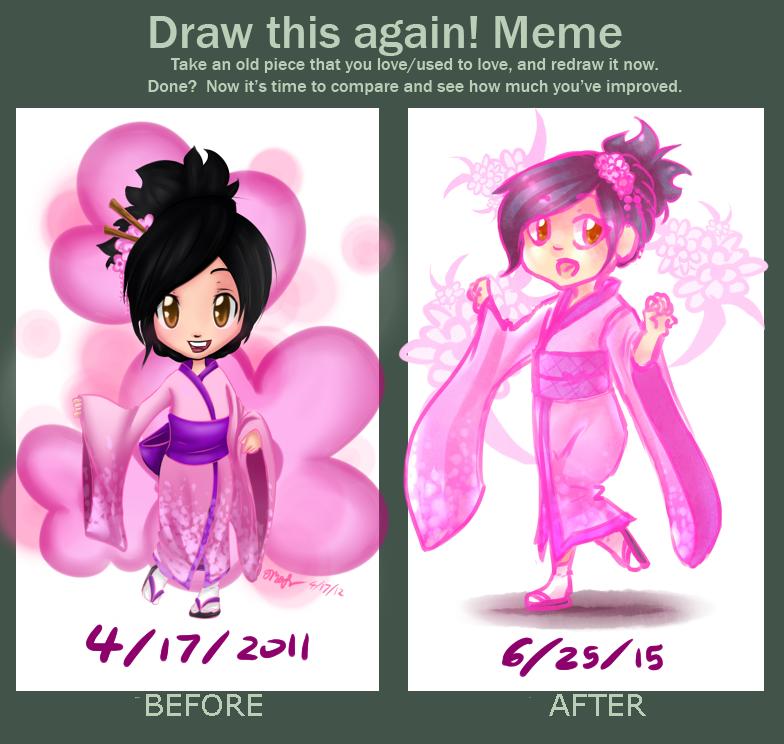 Redraw Meme Sakura by chaoskitty1257