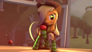 Applejack in socks by Star-lightStarbright