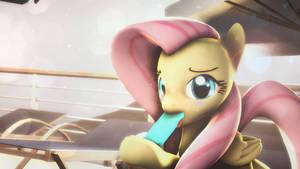 Fluttershy's popsicle by Star-lightStarbright