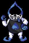 [Deltarune] Lancer,the bad guy (Battle Sprite)