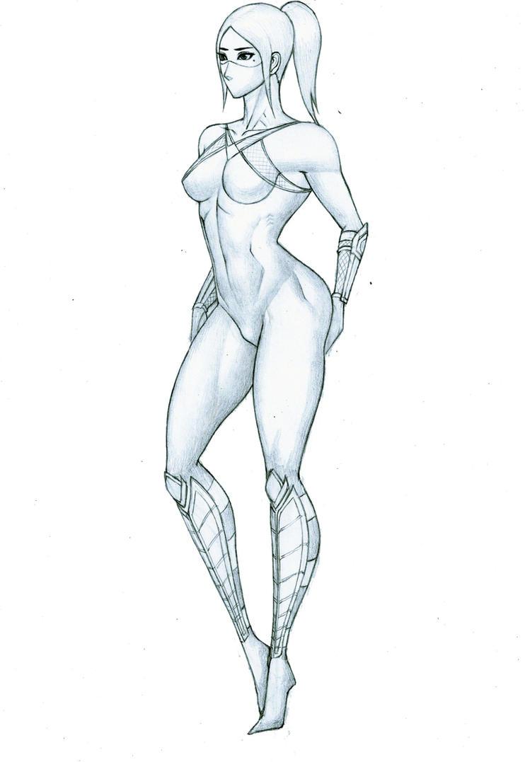 female ninja by doid12