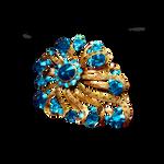 Blue Gold Brooch PNG Vampstock