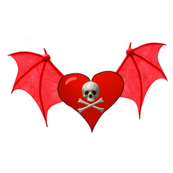Winged Heart PNG Vampstock