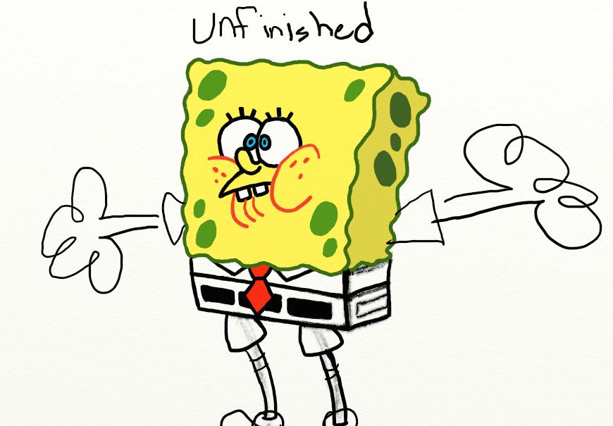 Unfinished SpeeBob by Robhasadeviantart