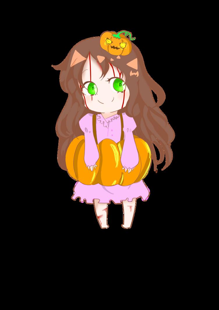 Late halloween: Sally the little pumpkin by JsilverstarT