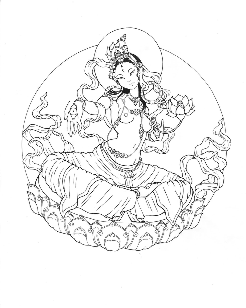 Drawing The Line Tattoos Tara Mccabe : White tara by primitive artifice on deviantart