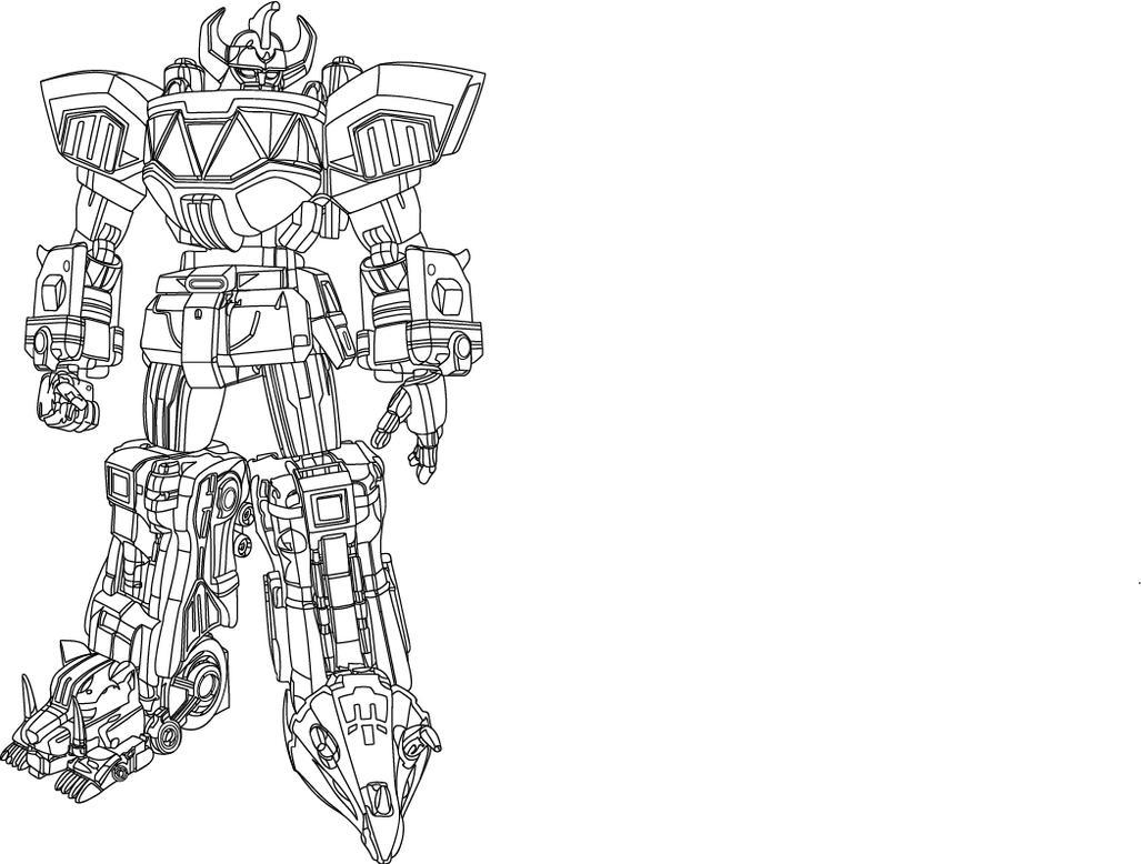 Mmpr megazord by legendarysuperman on deviantart for Power rangers megazord coloring pages