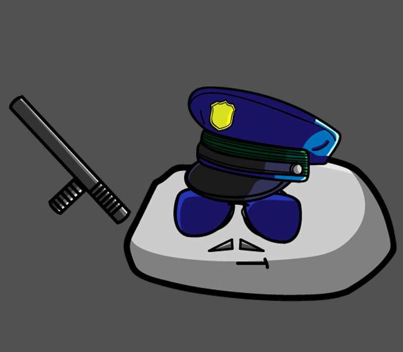 Pet Rock Police Officer by LegendarySuperman