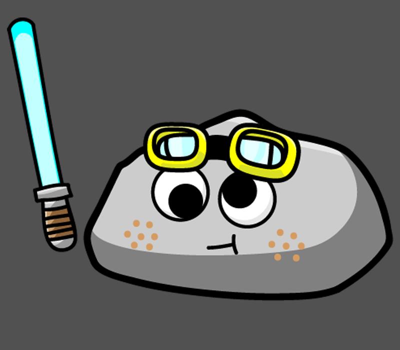 Pet Rock Ready for Adventure!! by LegendarySuperman