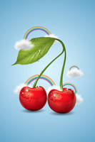 Cherry iphone wallpaper by MelissaReneePohl