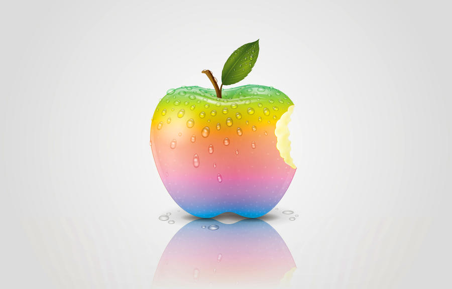 real apple wallpaper by MelissaReneePohl