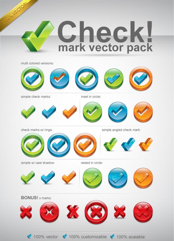 Check Mark Vector Pack By Melissareneepohl On Deviantart